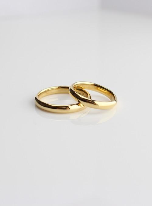 obrączki ślubne klasyczne żólte złoto 0.750 18kt 3.5 mm 10.00 gram
