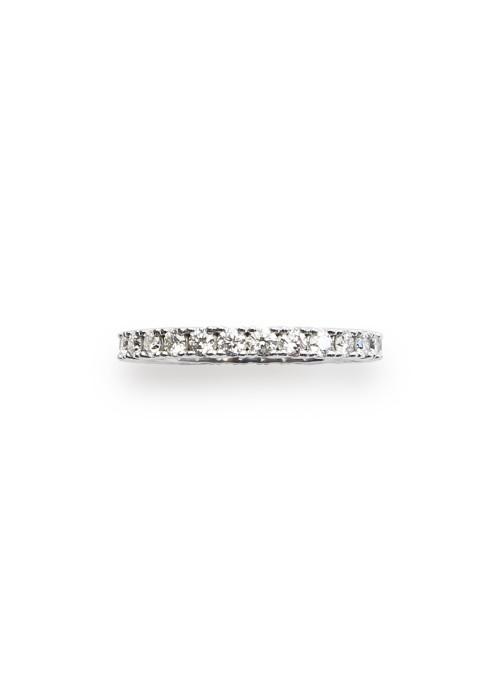 Pierścionek z diamentami 1.05 kt F/VS1 białe złoto 0.750 18 kt
