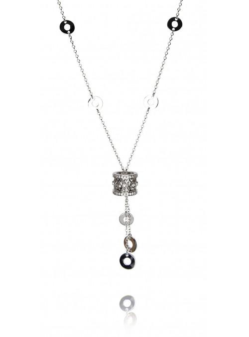 Naszyjnik  z diamentami 0.53 kt F/VS1 białe  złoto 0.750 18 kt