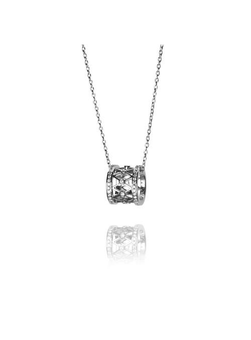 Naszyjnik  z diamentami 0.66 kt F/VS1 białe  złoto 0.750 18 kt