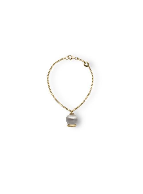 branzoletka dzwoneczek żółte i białe złoto 0.750 18 kt