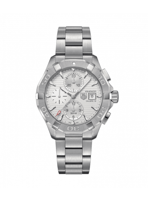 TAG HEUER Aquaracer Chronograph Srebrny/Stal Ø43 mm