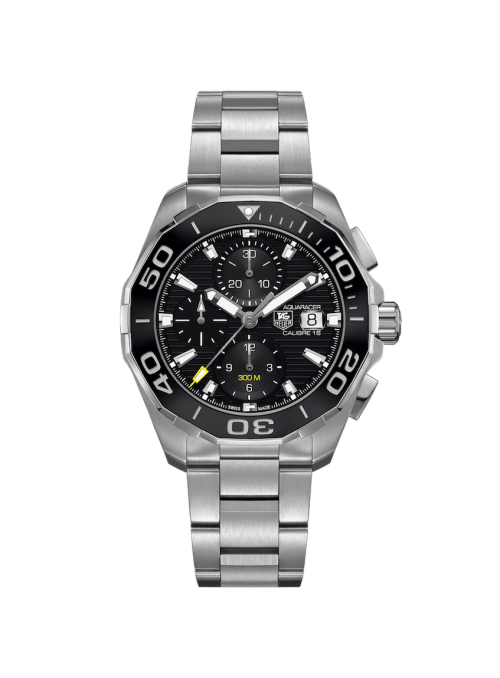 TAG HEUER Aquaracer Chronograph Czarny/Stal Ø43 mm CAY211A.BA0927