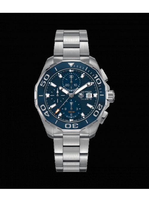 TAG HEUER Aquaracer Chronograph Niebieski/Stal Ø43 mm