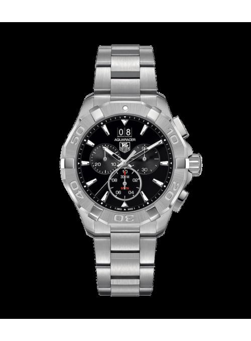 TAG HEUER Aquaracer Chronograph Czarny/Stal Ø43 mm