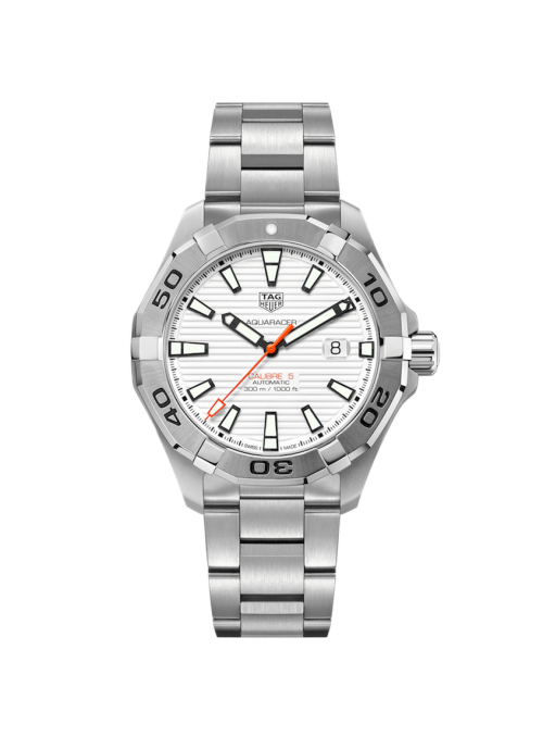 TAG HEUER Aquaracer Biały/Stal Ø43 mm WAY2013.BA0927