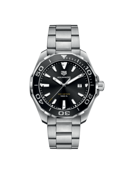 TAG HEUER Aquaracer Czarny/Stal Ø43 mm WAY101A.BA0746