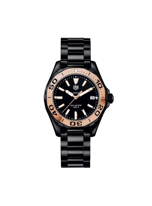 TAG HEUER Aquaracer Lady Różowe złoto Czarny/Czeramiczna Ø35 mm