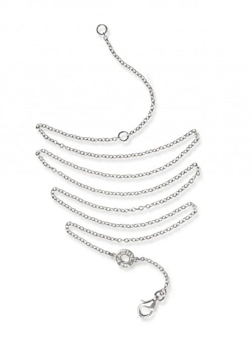 Łańcuszek białe złoto 0.750 18 kt 42/48 cm