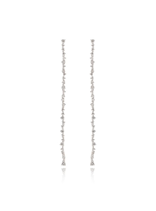 Kolczyki Eden z diamentami 1.42 kt F/VS1  ,białe złoto 0.750 18 kt