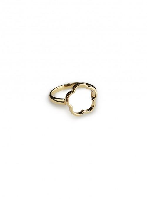 perścionek żółte złoto 0.750 18 kt