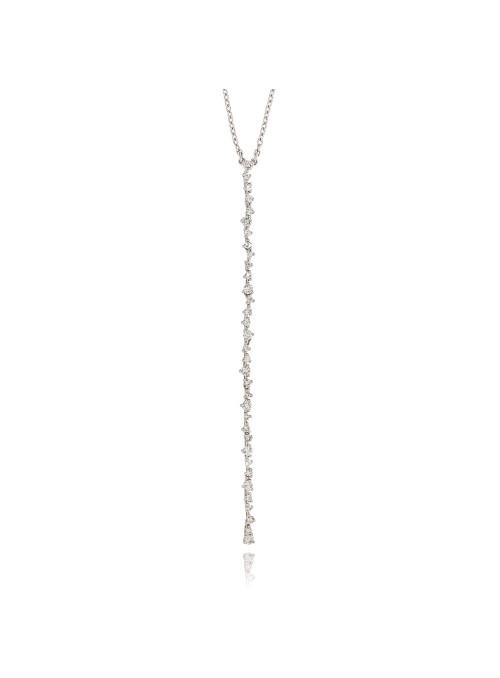 Naszyjnik eden z diamentami 0.83 kt F/VS1 białe złoto 0.750 18kt