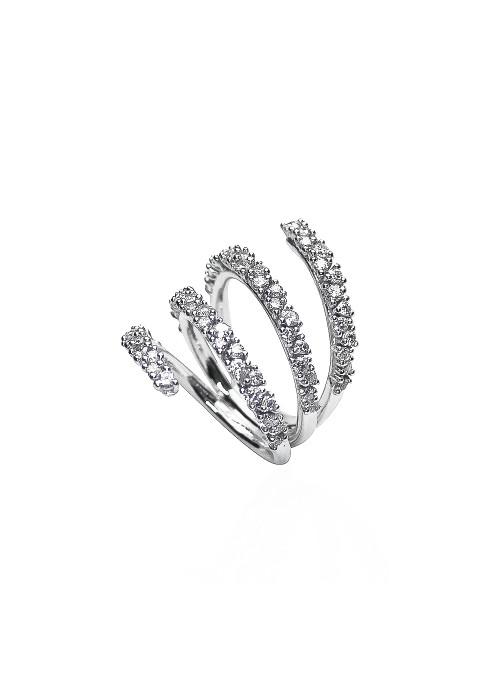 pierścionek Eden z diamentami 1.69 kt F/VS1 białe złoto 0.750 18kt