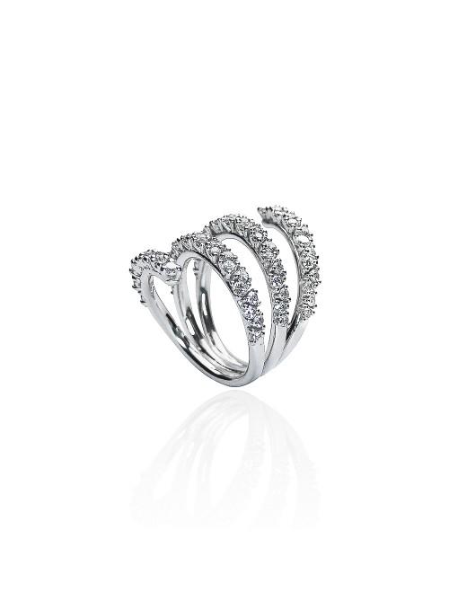 pierścionek Eden z diamentami 1.69 kt białe złoto 0.750 18kt