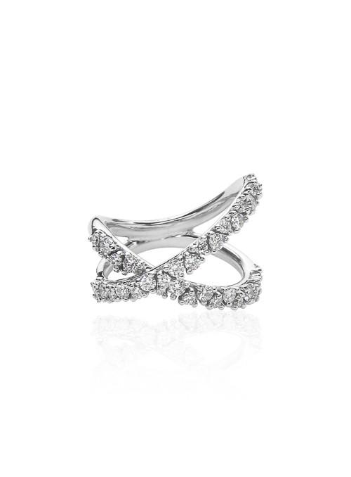 Pierścionek Eden z diamentami 0.96 kt F/VS1 białe złoto 0.750 18kt