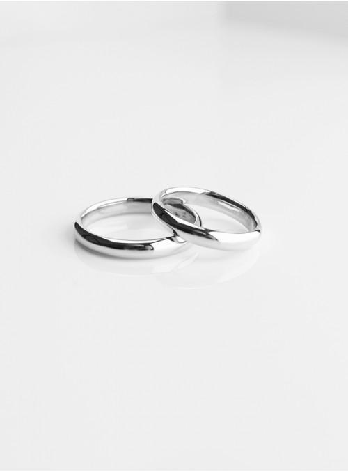 obrączki ślubne klasyczne białe złoto 0.750 18 karatowe  3.00 mm 8.00 gram