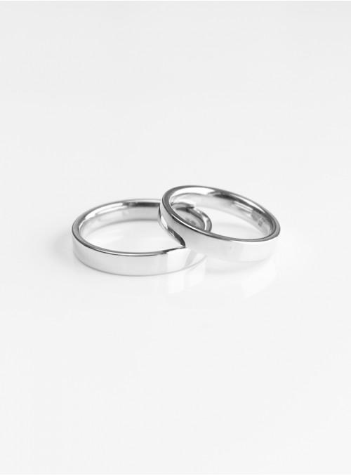 obrączki ślubne klasyczne  płaskie  białe złoto 0.750 18kt 3.50 mm 10.00 gram
