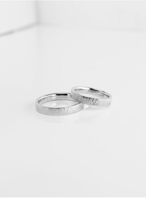 obrączki ślubne klasyczne  fakturowane białe złoto 0.750 18kt 3.50 mm 10.00 gram
