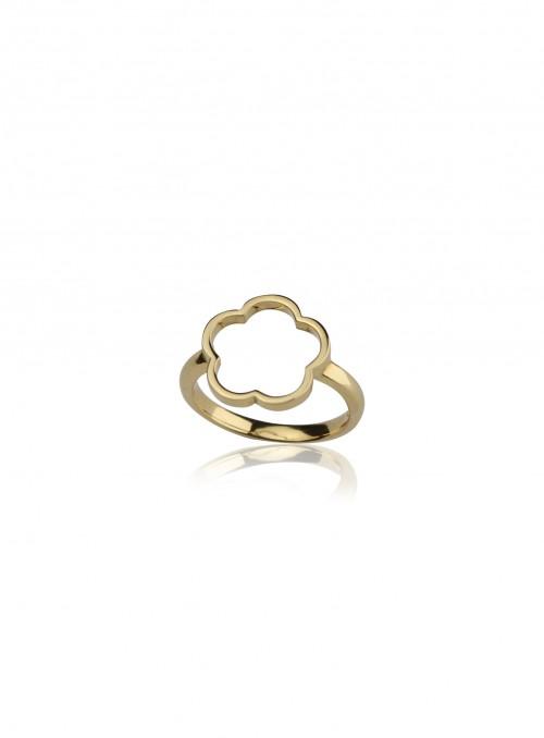 pierścionek z kolekcji flower żółte złoto 18 karatowe