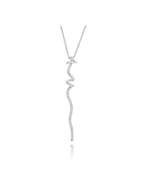 Naszyjnik Nastri  z diamentami 0.50 ct F/VS1 białę złoto 0.750 18 kt