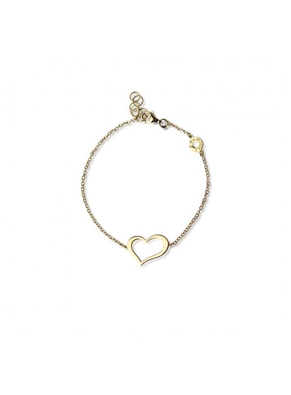 bransoletka 1 serce  żółte złoto 0.750 18 karatowe