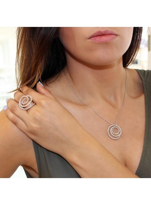 Kolekcja Infinito naszyjnik  wraz z pierścionkiem