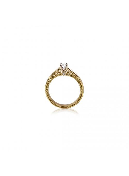 Pierścionek zaręczynowy  z diamentami 0.24 karata
