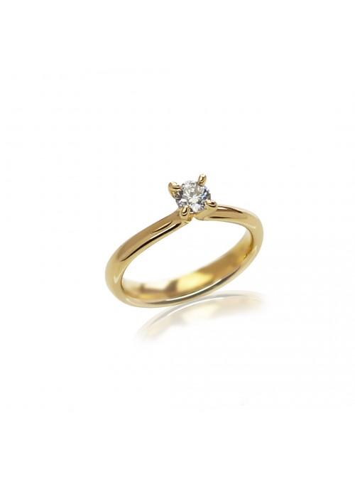 Pierścionek zaręczynowy  z diamentem 0.31 G/VS1 GIA  białe złoto 0.750 18 kt