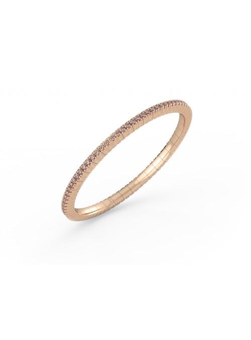 elastyczna bransoletka tenisowa z diamentami brown 2.85 ct różowe złoto 750