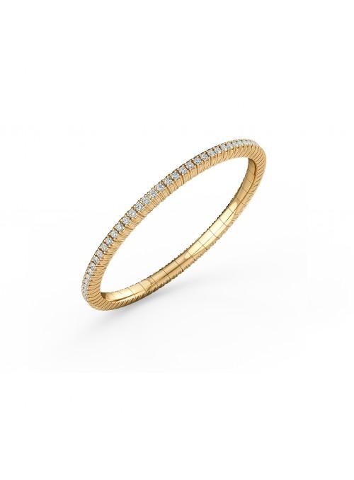 elastyczna bransoletka tenisowa z diamentami 2.73 ct  żółte złoto 750