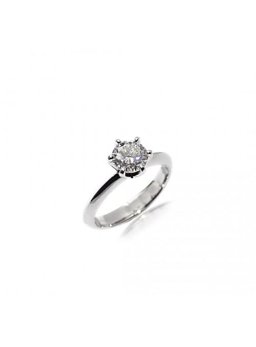Pierścionek zaręczynowy  z diamentem 1.00 karat  H/VS1 HRD białe złoto 0.750 18 kt
