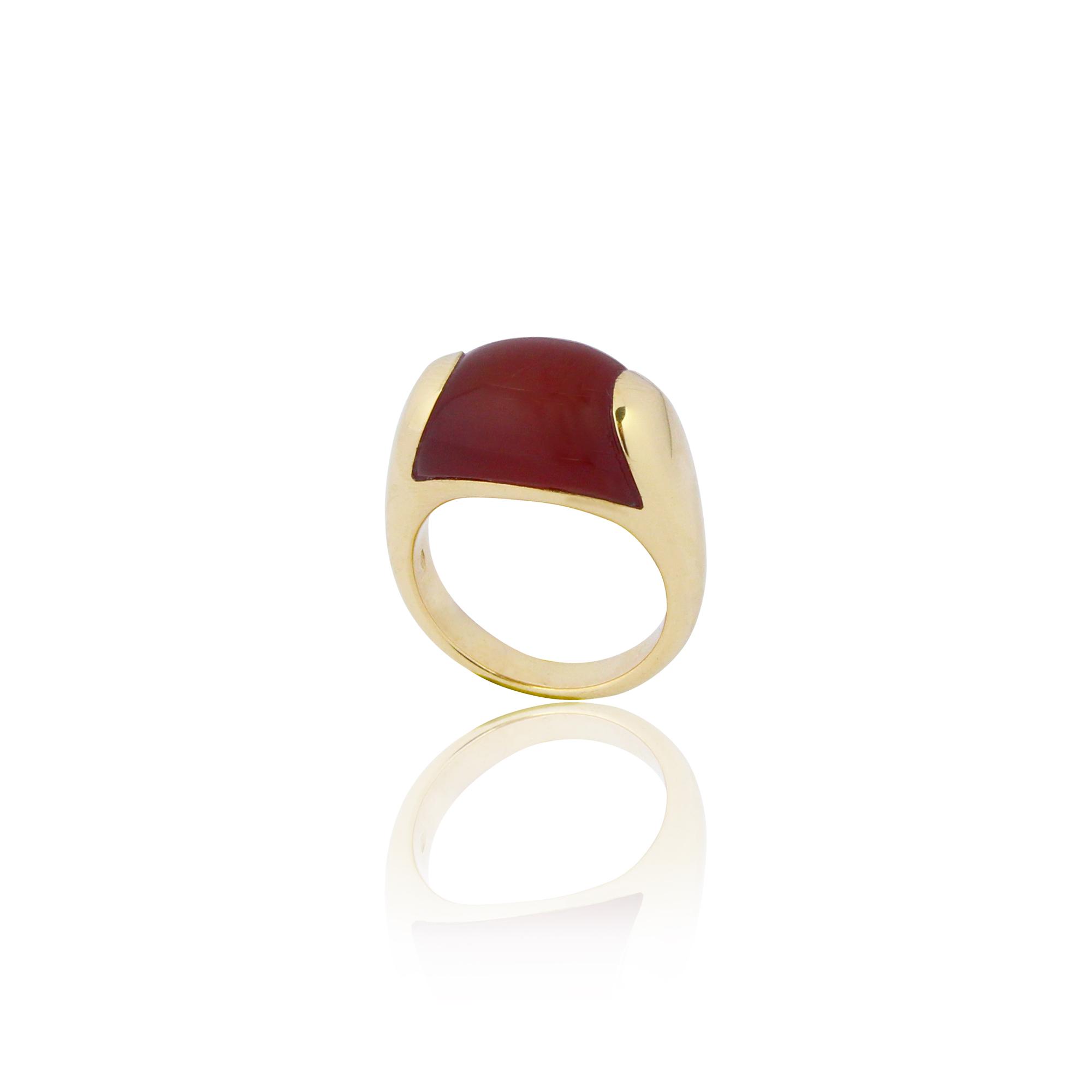 ring paradiso 1208 carnelian yellow gold 18 carat carnelian