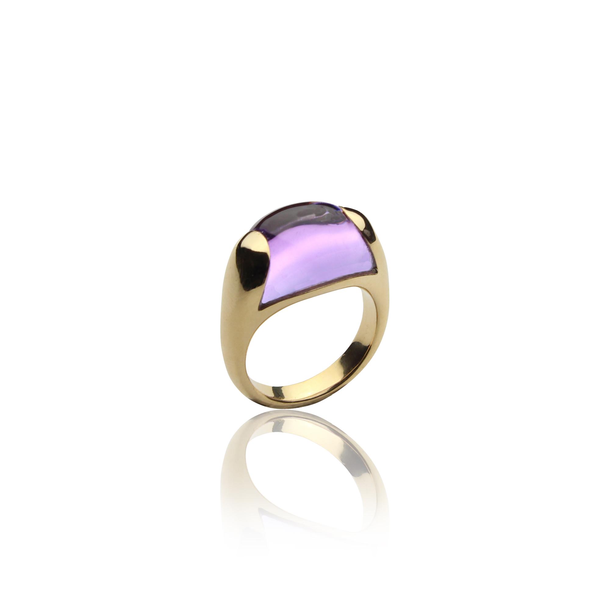 ring paradiso 1210 amethyst gold 18 carat amethyst