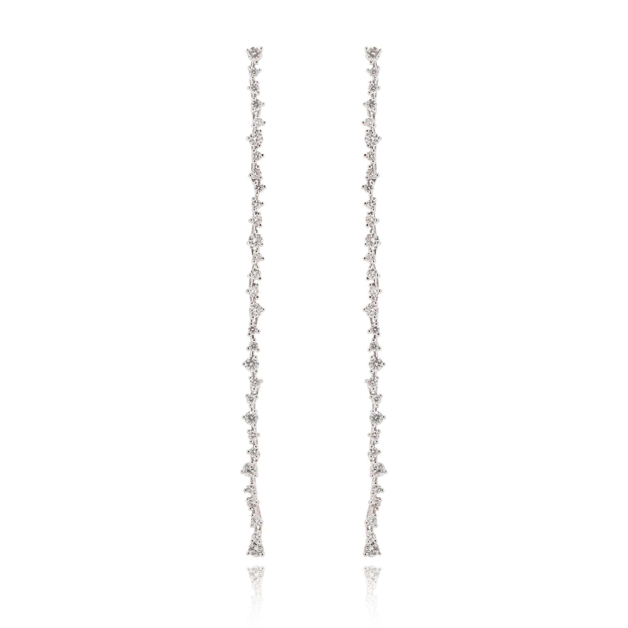 orecchini eden in oro bianco 18 carati con diamanti