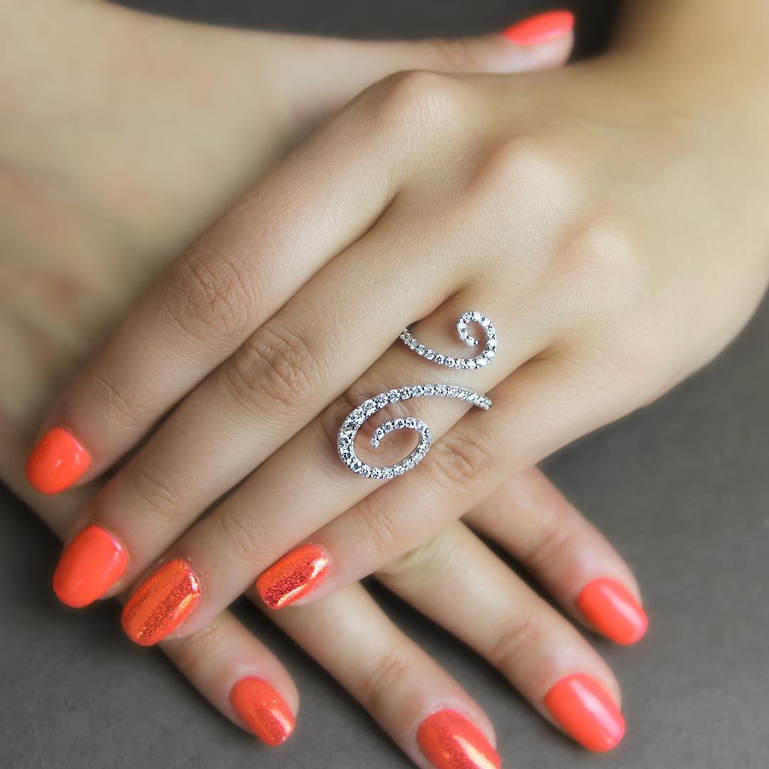 anello paradiso in oro bianco 18 carati con diamanti