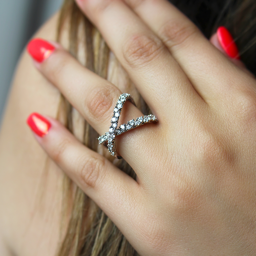 anello eden oro bianco 18 carati con diamanti