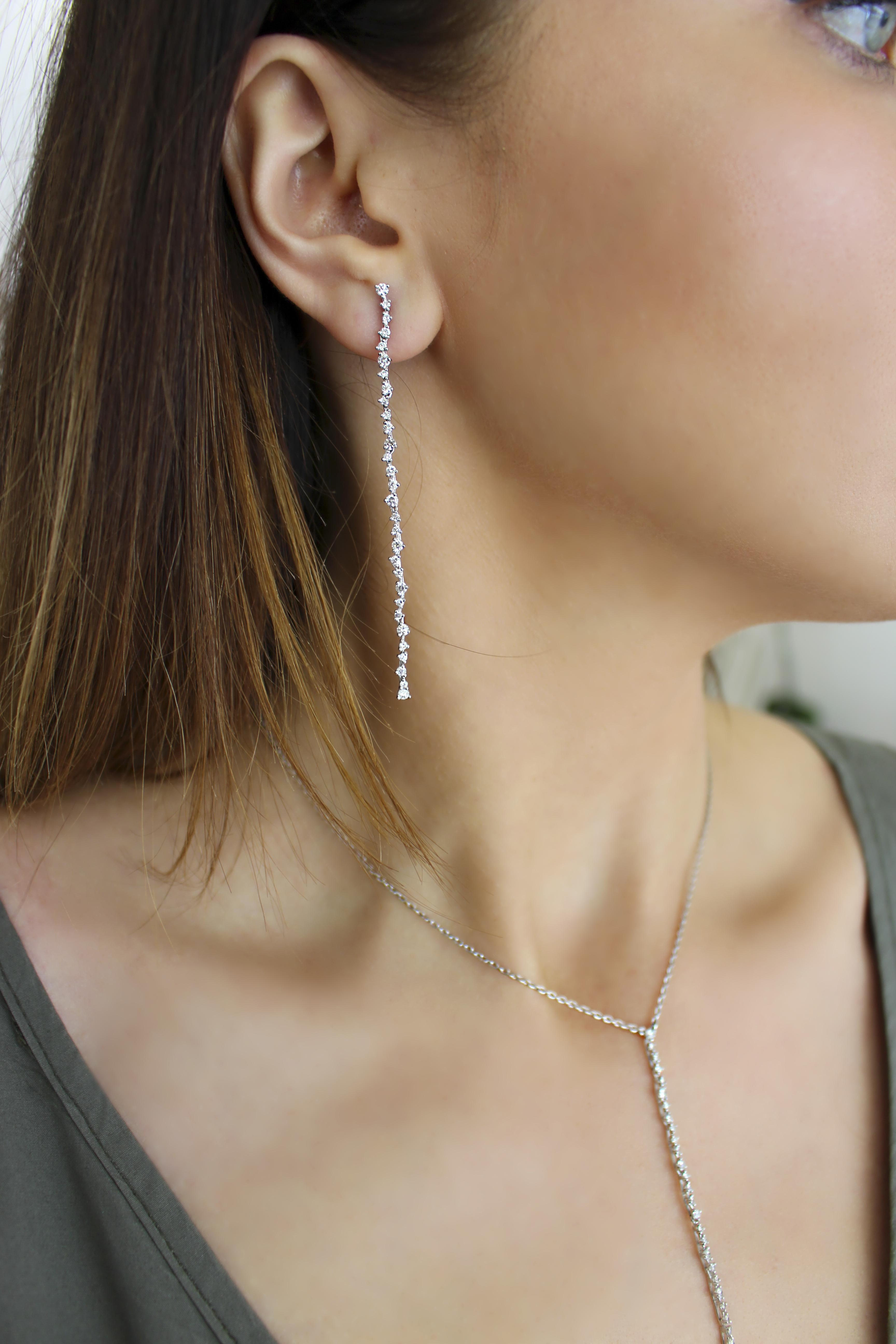orecchini Eden oro bianco con brillanti