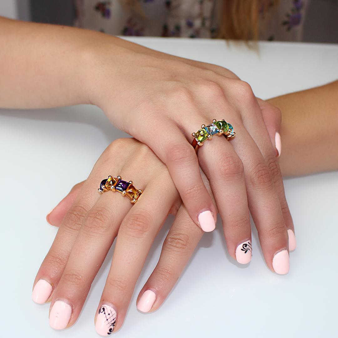 anelli paradiso pietre semipreziose in oro 18 carati